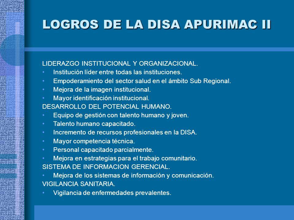 LOGROS DE LA DISA APURIMAC II