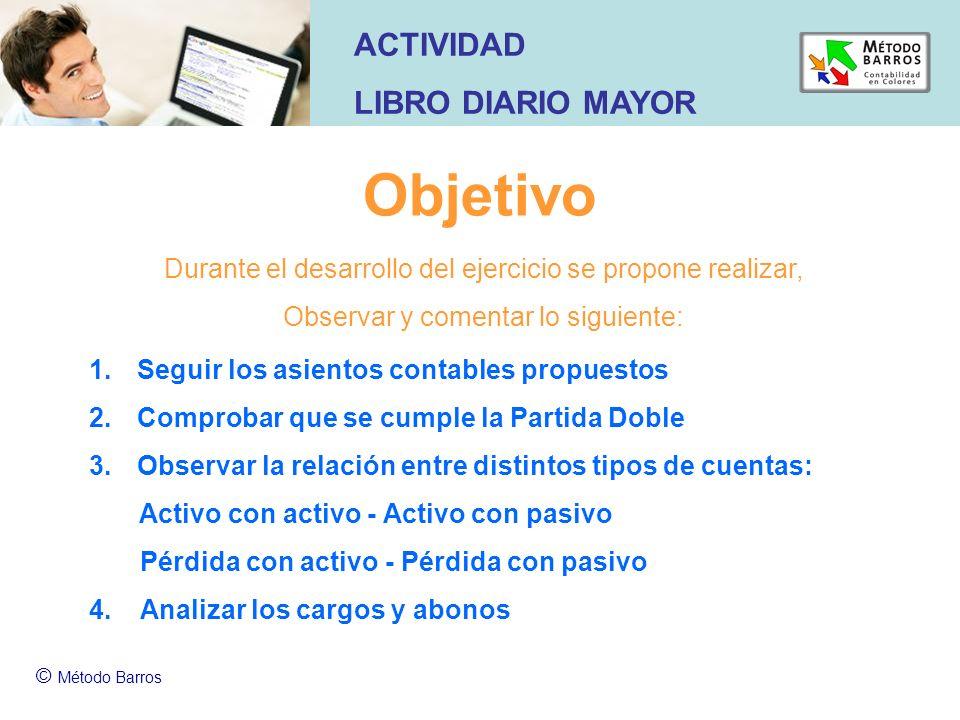 Objetivo ACTIVIDAD LIBRO DIARIO MAYOR