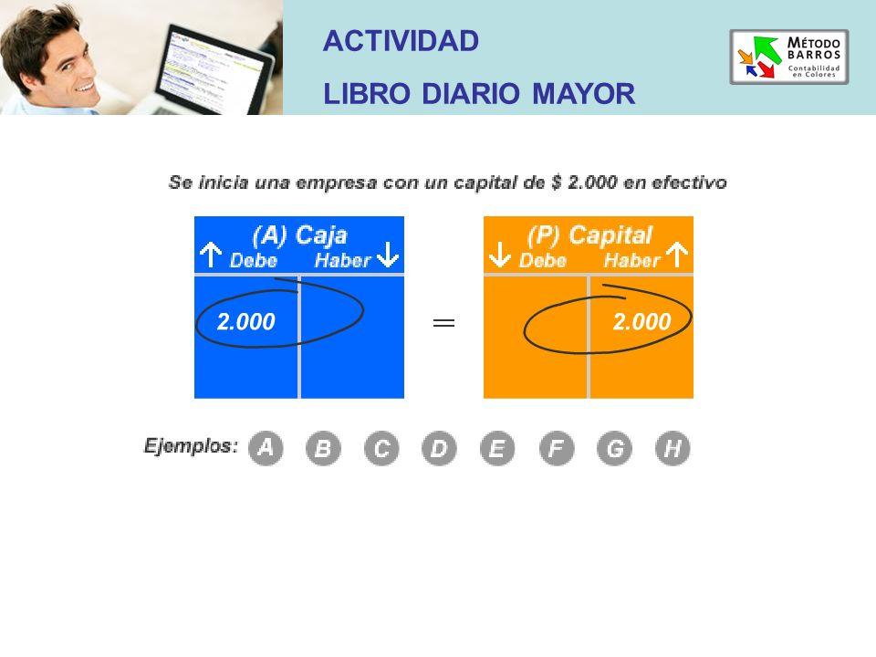 ACTIVIDAD LIBRO DIARIO MAYOR