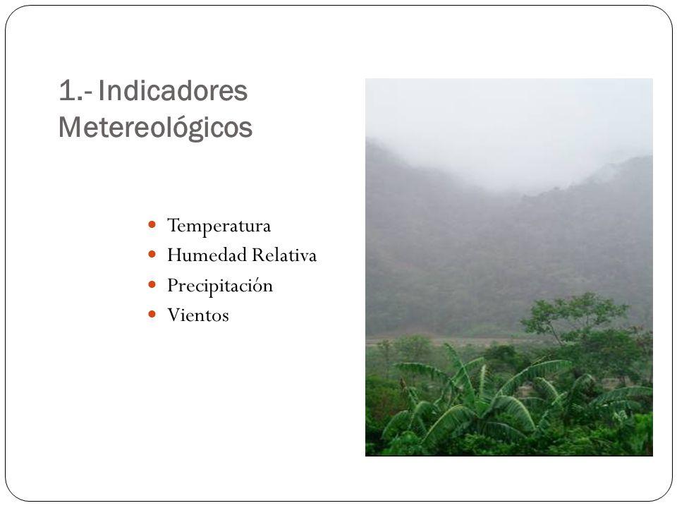 1.- Indicadores Metereológicos