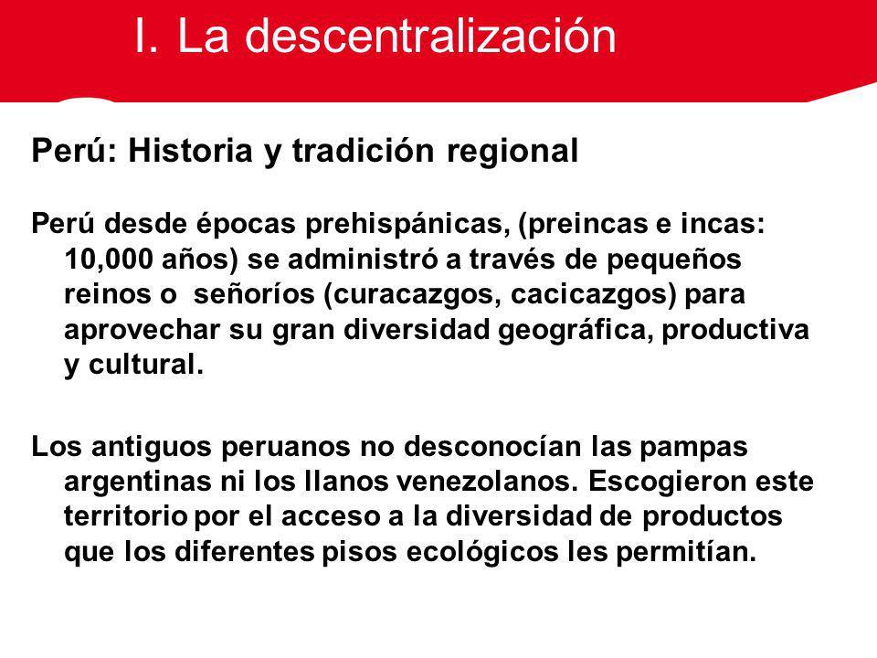 La descentralización Perú: Historia y tradición regional