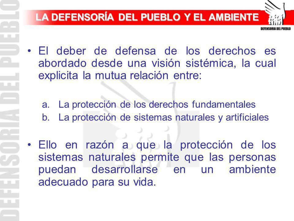 LA DEFENSORÍA DEL PUEBLO Y EL AMBIENTE