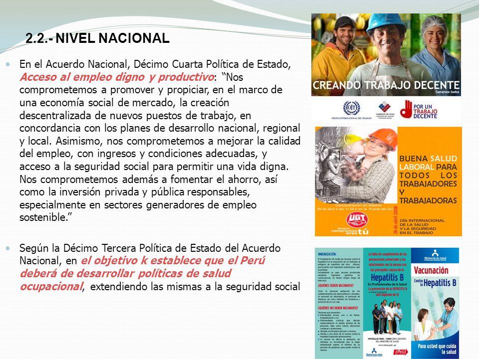 2.2.- NIVEL NACIONAL