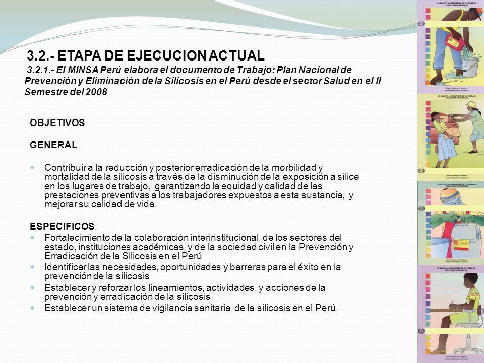 3. 2. - ETAPA DE EJECUCION ACTUAL 3. 2. 1