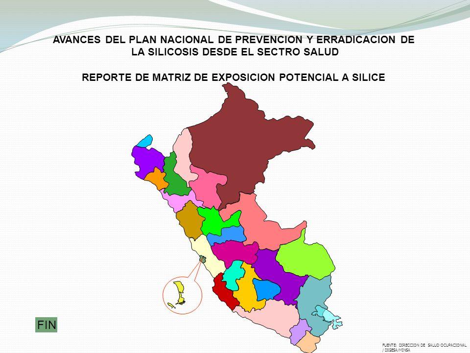 FIN AVANCES DEL PLAN NACIONAL DE PREVENCION Y ERRADICACION DE
