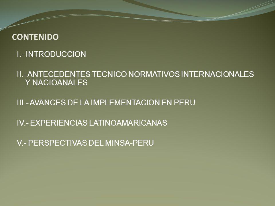 CONTENIDO I.- INTRODUCCION