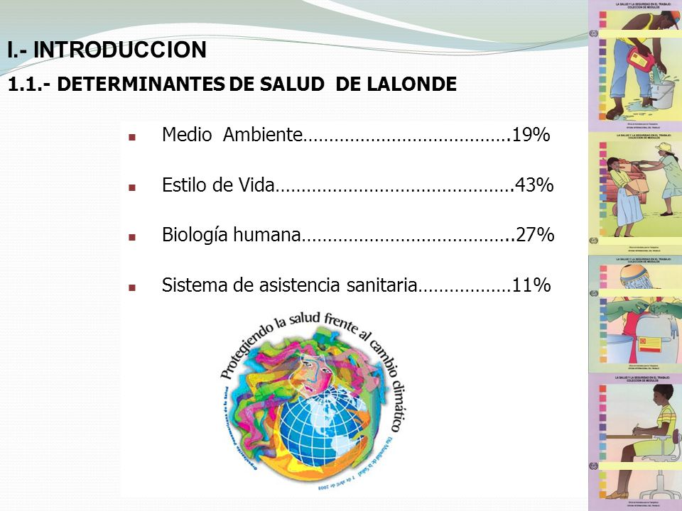 I.- INTRODUCCION 1.1.- DETERMINANTES DE SALUD DE LALONDE