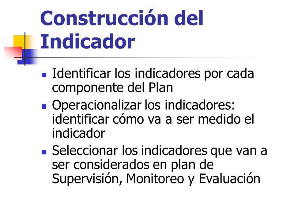 Construcción del Indicador