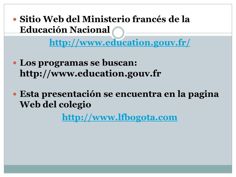 Sitio Web del Ministerio francés de la Educación Nacional
