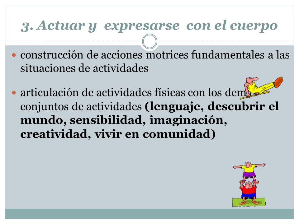 3. Actuar y expresarse con el cuerpo