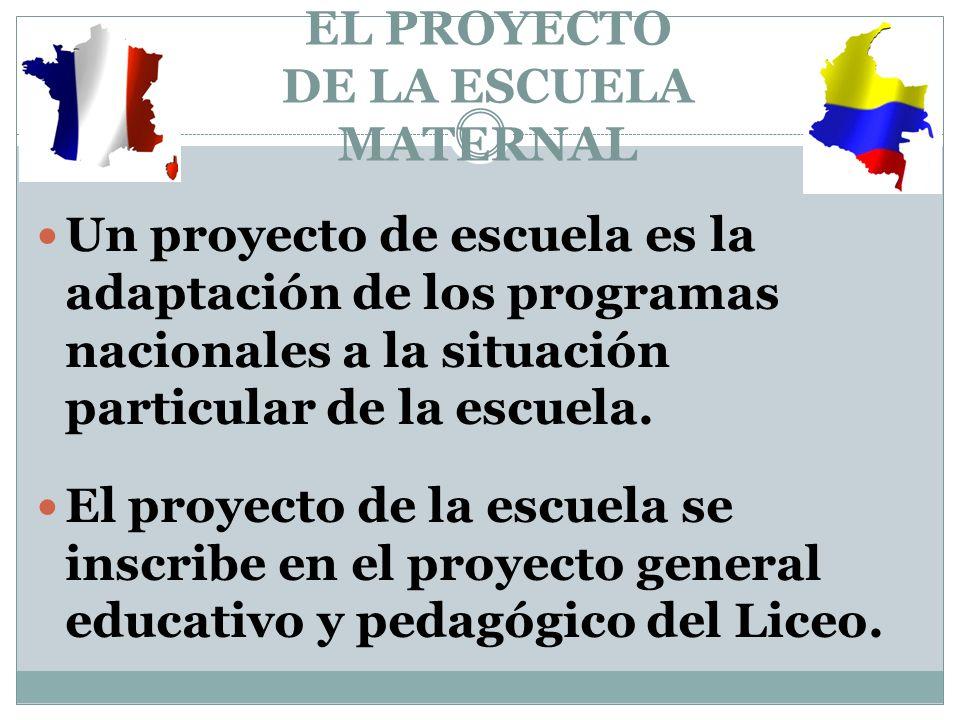 EL PROYECTO DE LA ESCUELA MATERNAL
