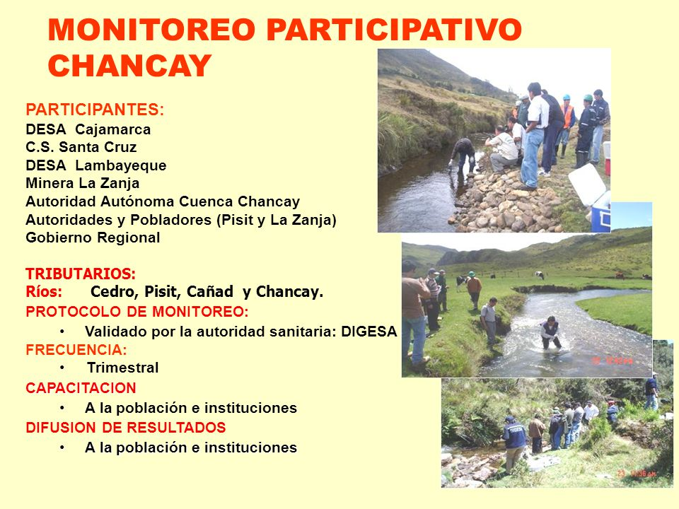 MONITOREO PARTICIPATIVO CHANCAY