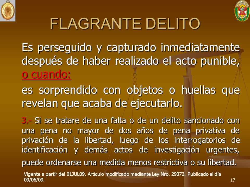 FLAGRANTE DELITO