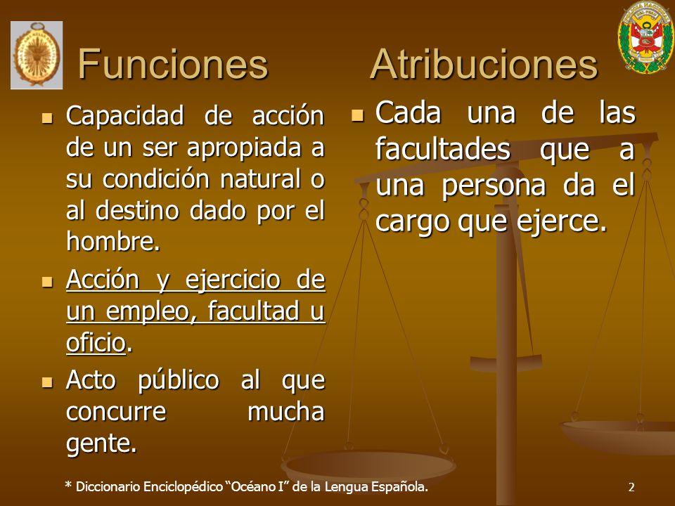 Funciones Atribuciones