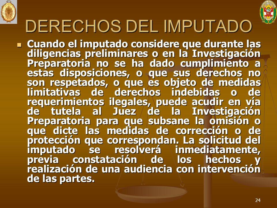 DERECHOS DEL IMPUTADO