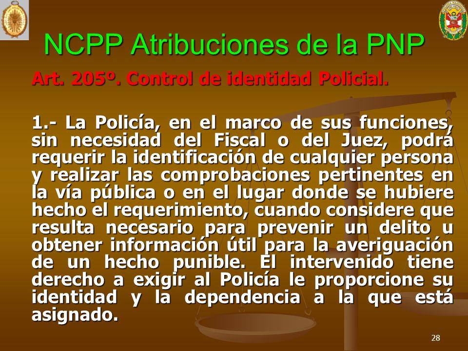 NCPP Atribuciones de la PNP