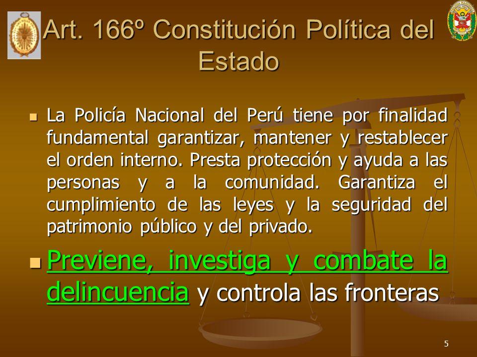 Art. 166º Constitución Política del Estado