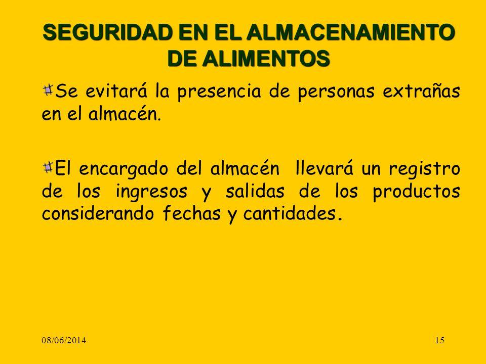 SEGURIDAD EN EL ALMACENAMIENTO DE ALIMENTOS