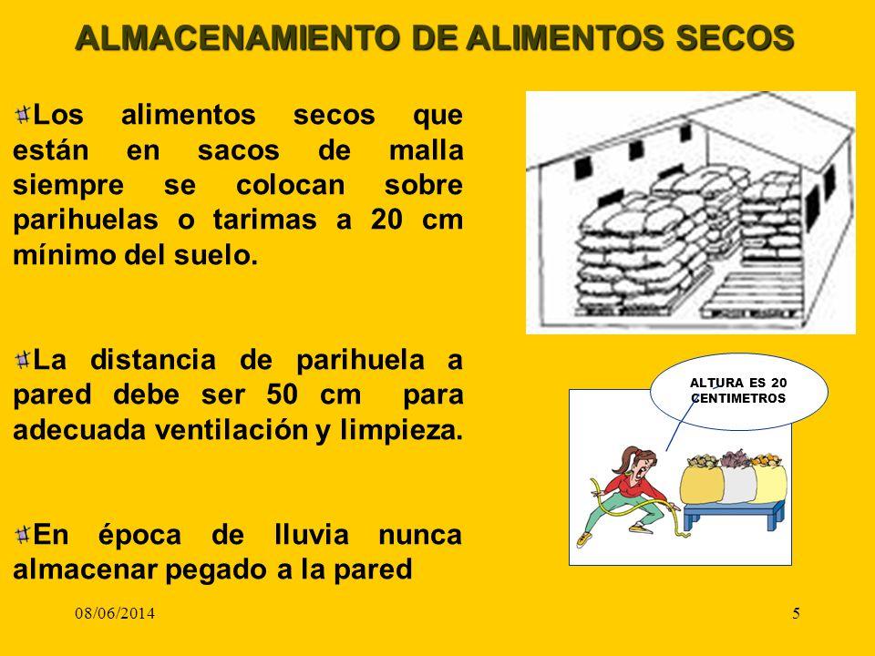 ALMACENAMIENTO DE ALIMENTOS SECOS