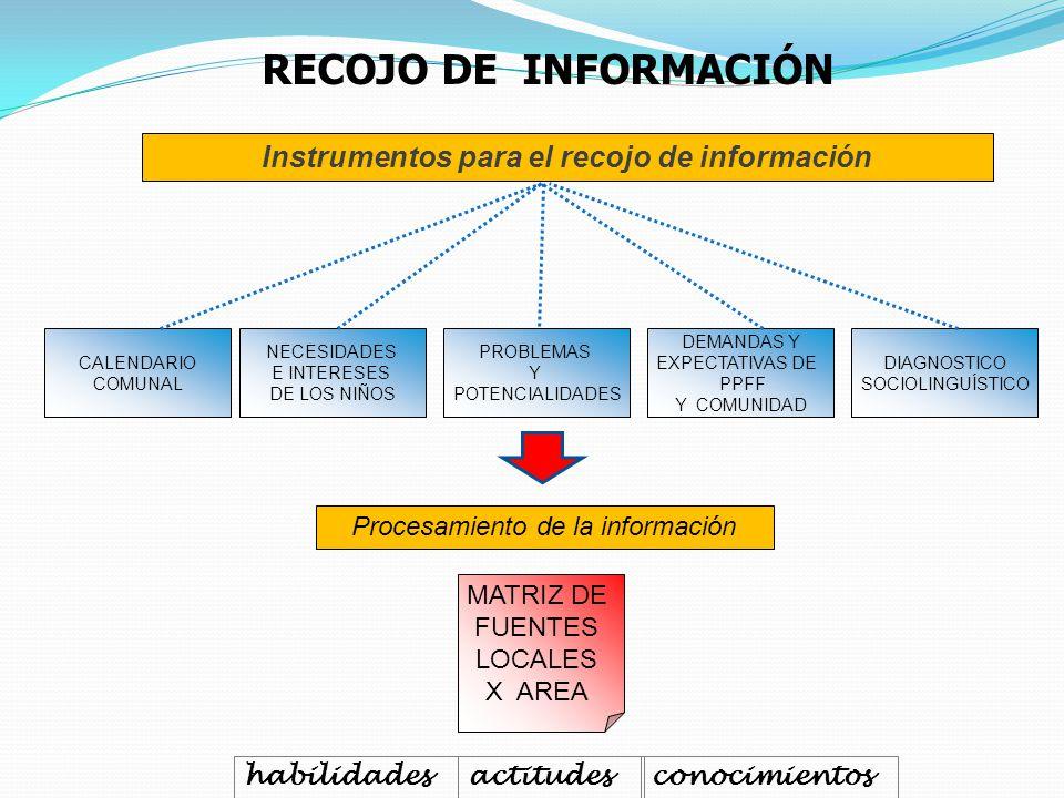Instrumentos para el recojo de información