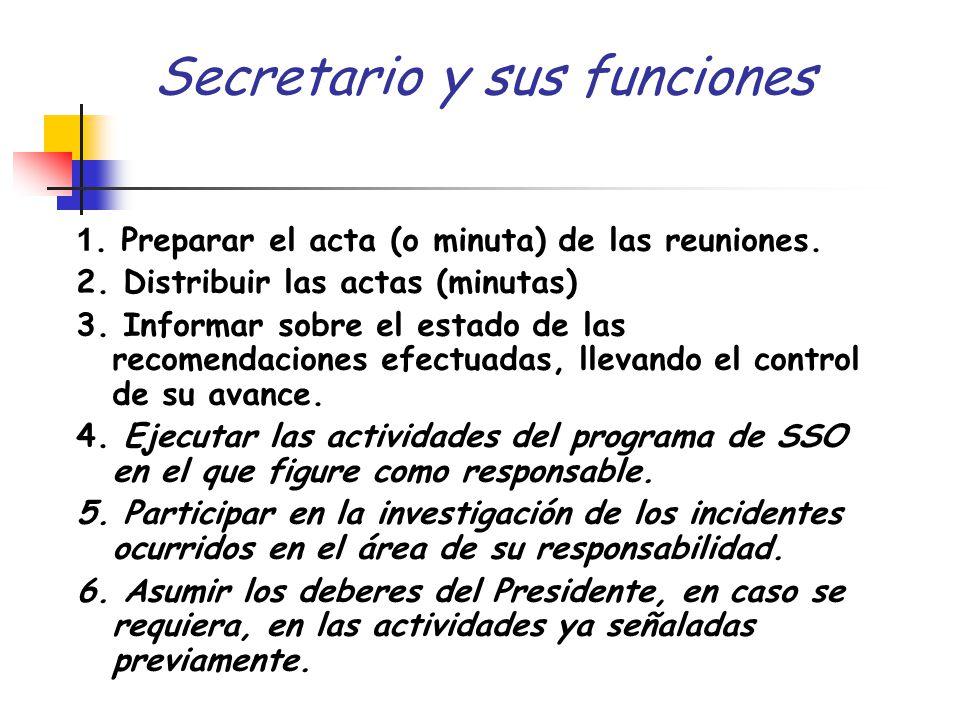 Secretario y sus funciones