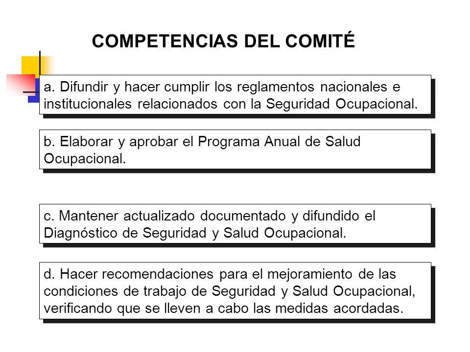 COMPETENCIAS DEL COMITÉ