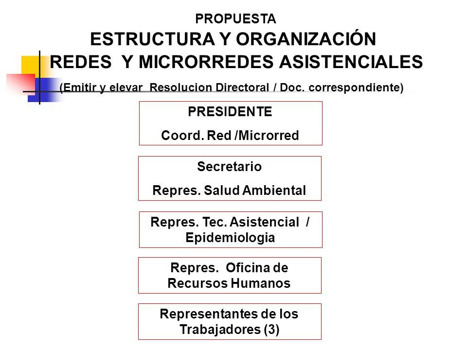 ESTRUCTURA Y ORGANIZACIÓN REDES Y MICRORREDES ASISTENCIALES