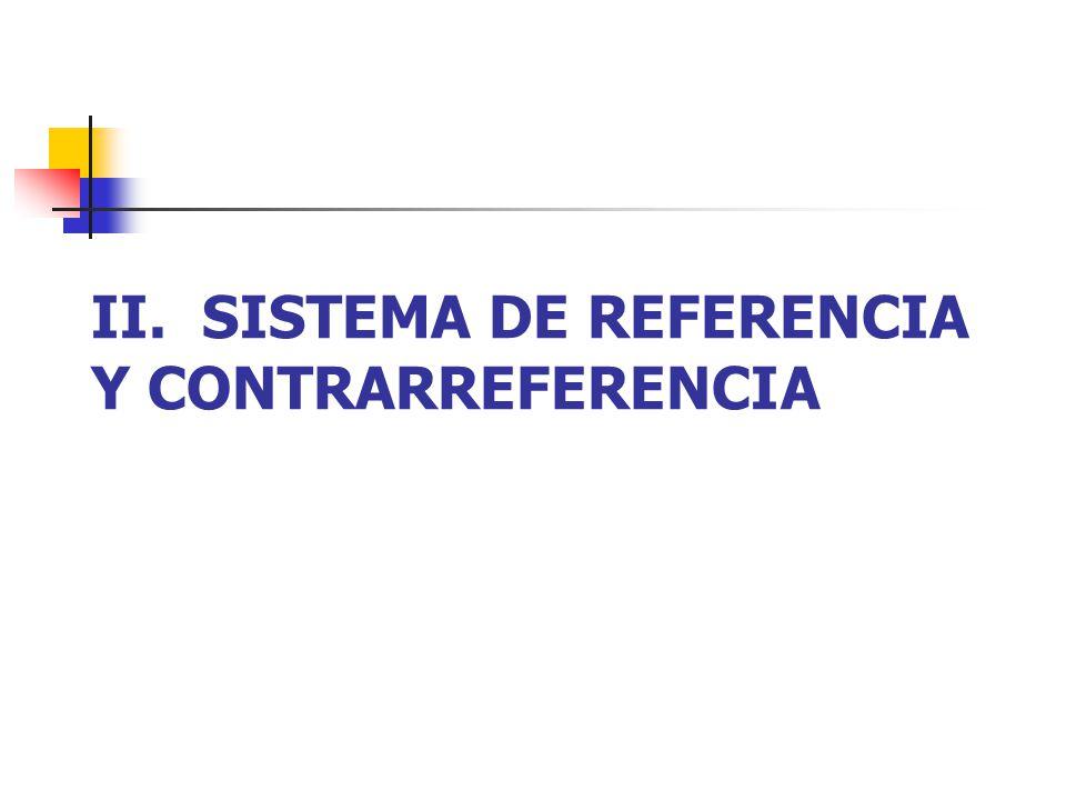 II. SISTEMA DE REFERENCIA Y CONTRARREFERENCIA