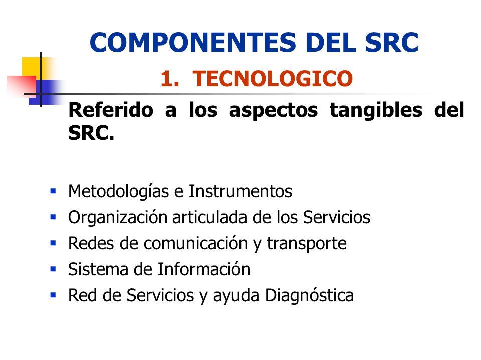 COMPONENTES DEL SRC TECNOLOGICO Metodologías e Instrumentos