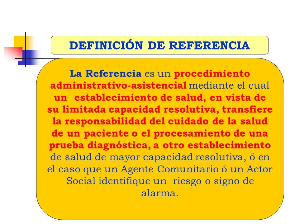 DEFINICIÓN DE REFERENCIA