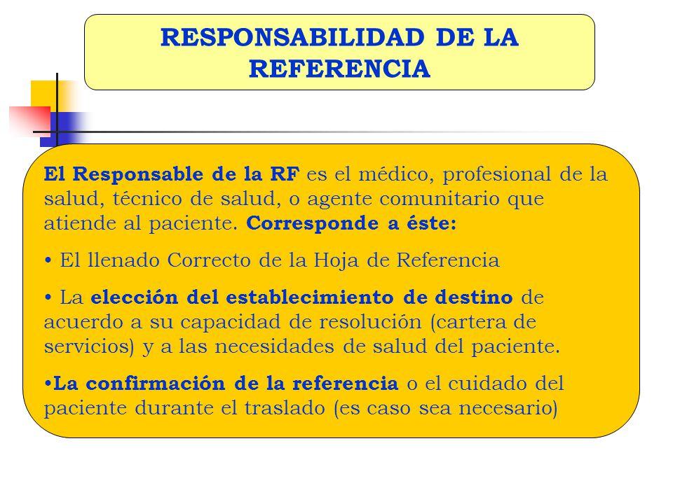RESPONSABILIDAD DE LA REFERENCIA
