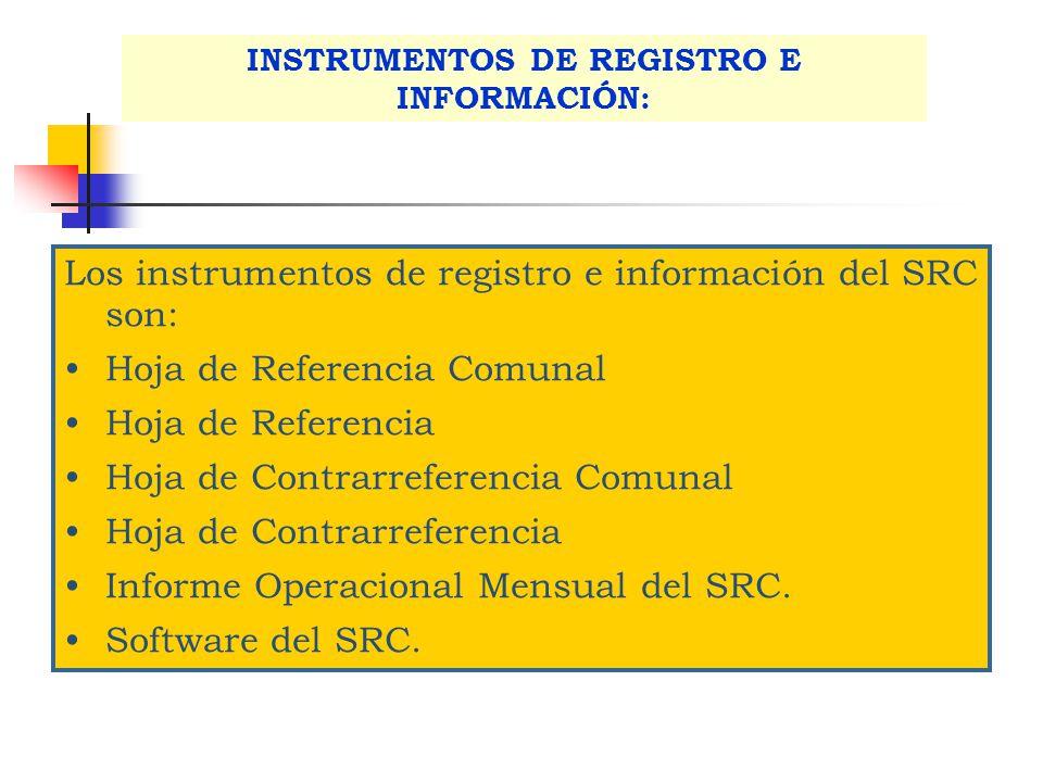 INSTRUMENTOS DE REGISTRO E INFORMACIÓN: