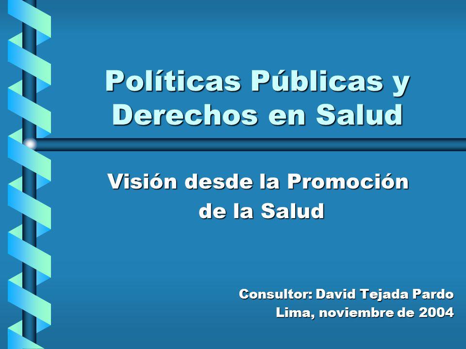 Políticas Públicas y Derechos en Salud
