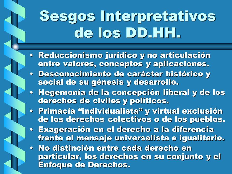 Sesgos Interpretativos de los DD.HH.