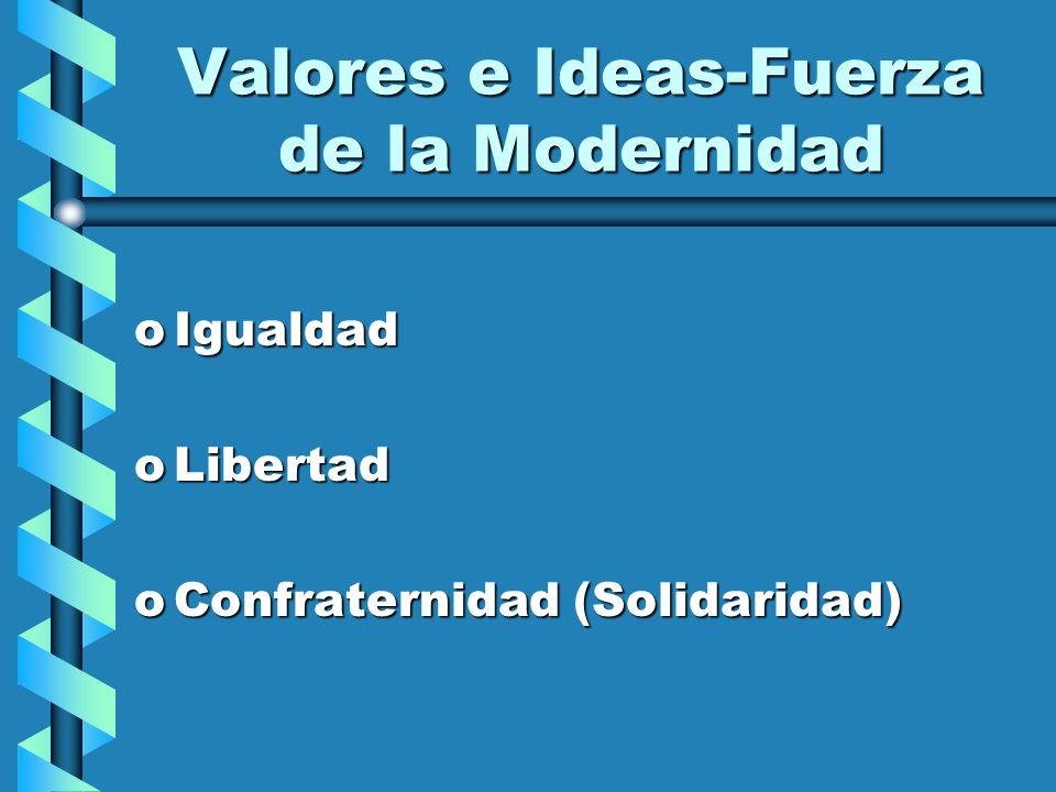 Valores e Ideas-Fuerza de la Modernidad