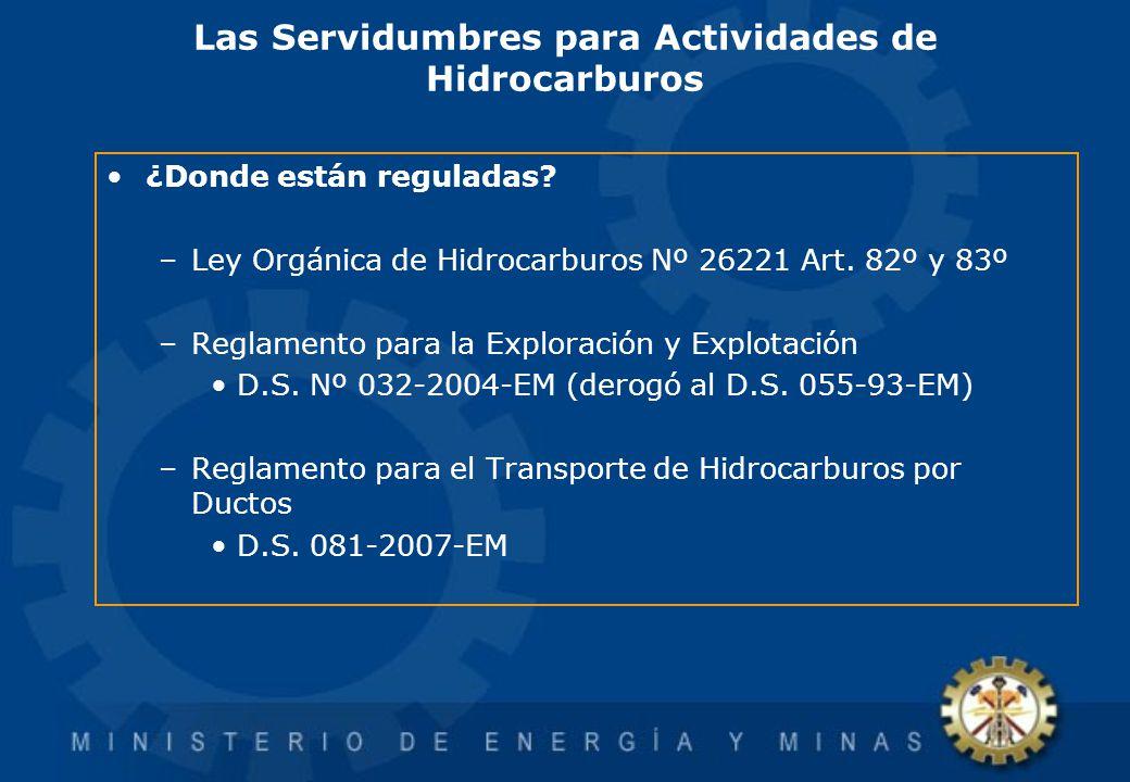 Las Servidumbres para Actividades de Hidrocarburos