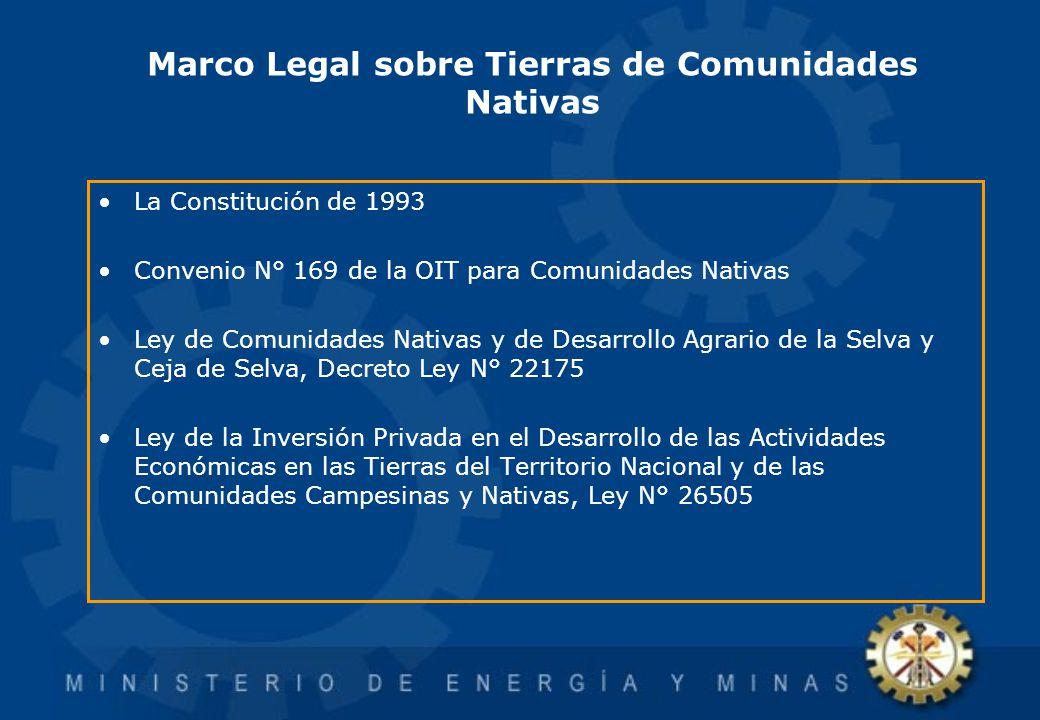 Marco Legal sobre Tierras de Comunidades Nativas