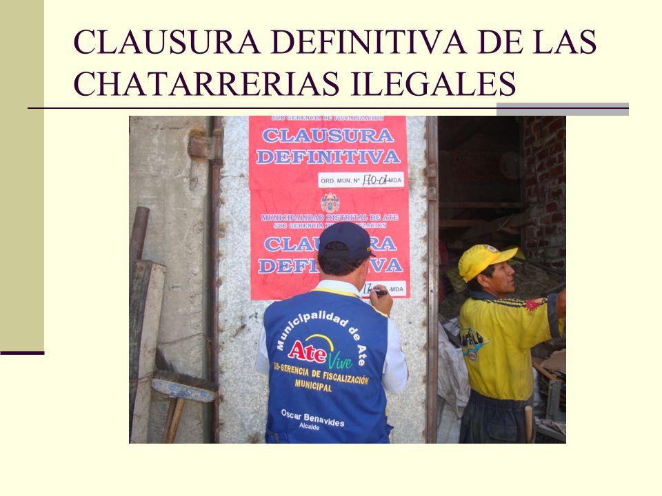 CLAUSURA DEFINITIVA DE LAS CHATARRERIAS ILEGALES