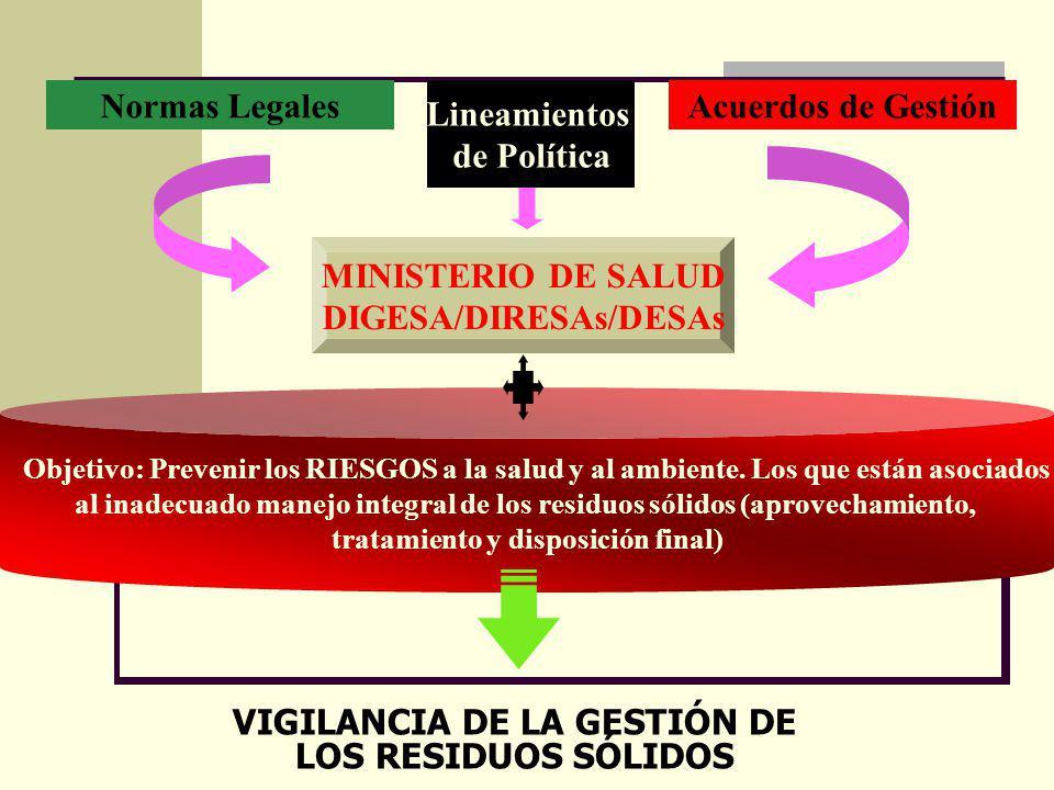 DIGESA/DIRESAs/DESAs