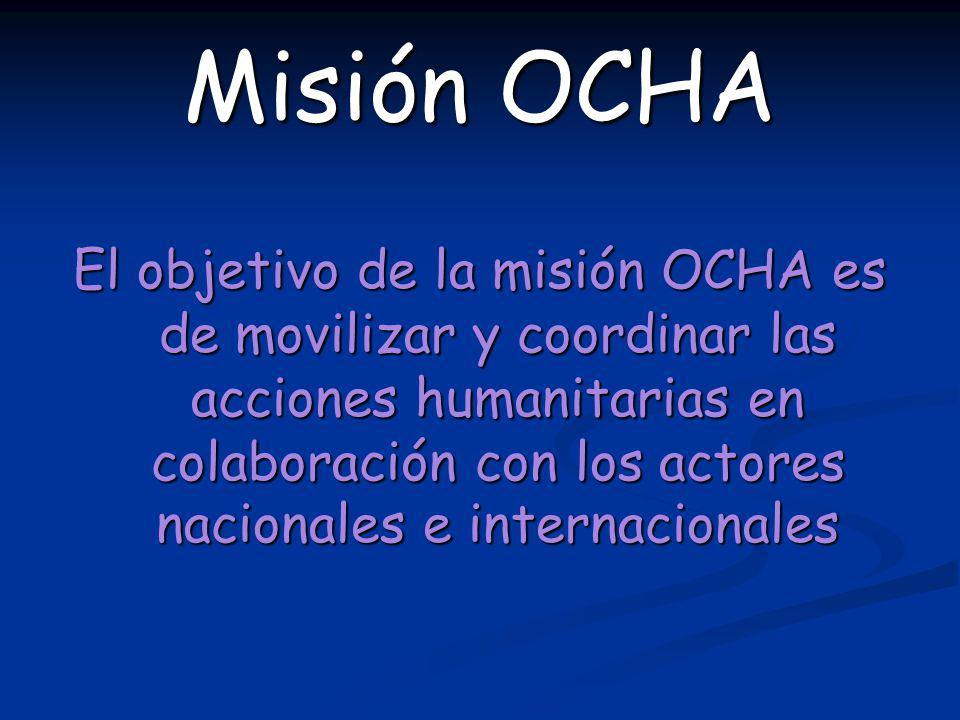 Misión OCHA