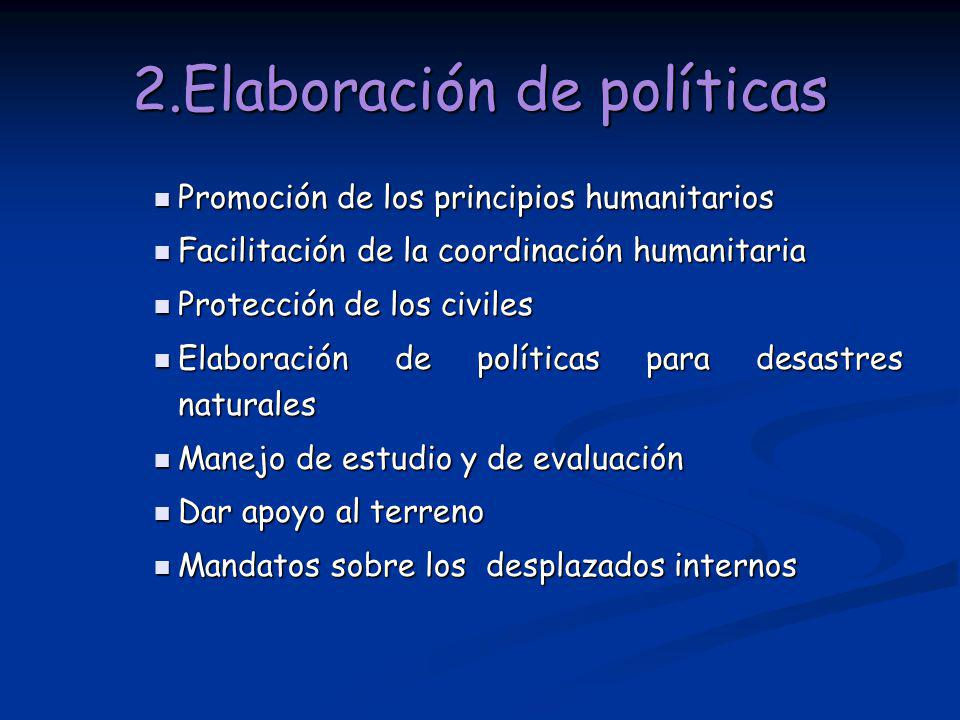 2.Elaboración de políticas
