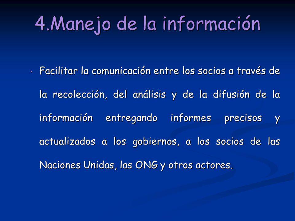 4.Manejo de la información