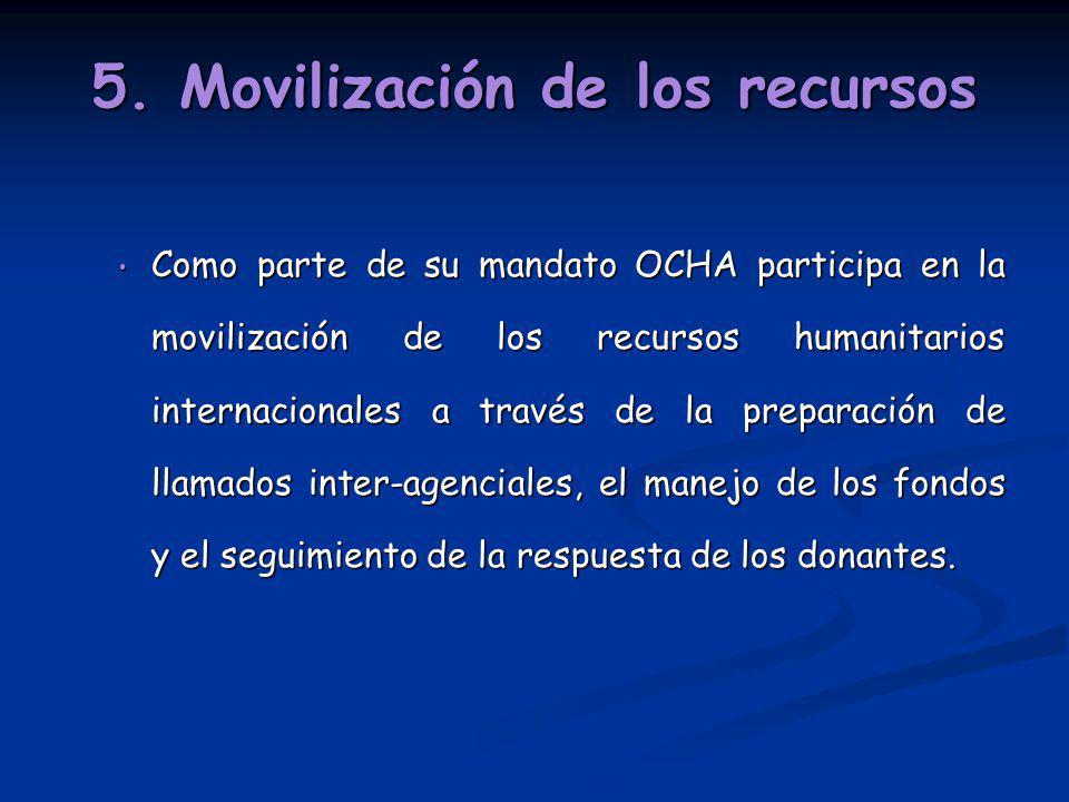5. Movilización de los recursos