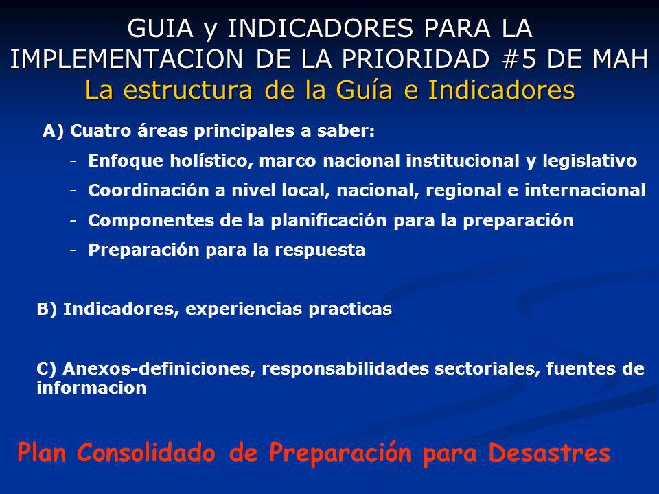 Plan Consolidado de Preparación para Desastres