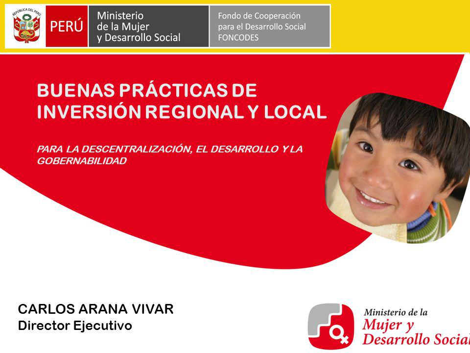 BUENAS PRÁCTICAS DE INVERSIÓN REGIONAL Y LOCAL