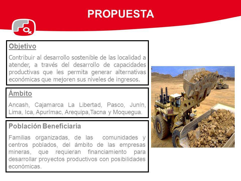 PROPUESTA Objetivo Ámbito Población Beneficiaria