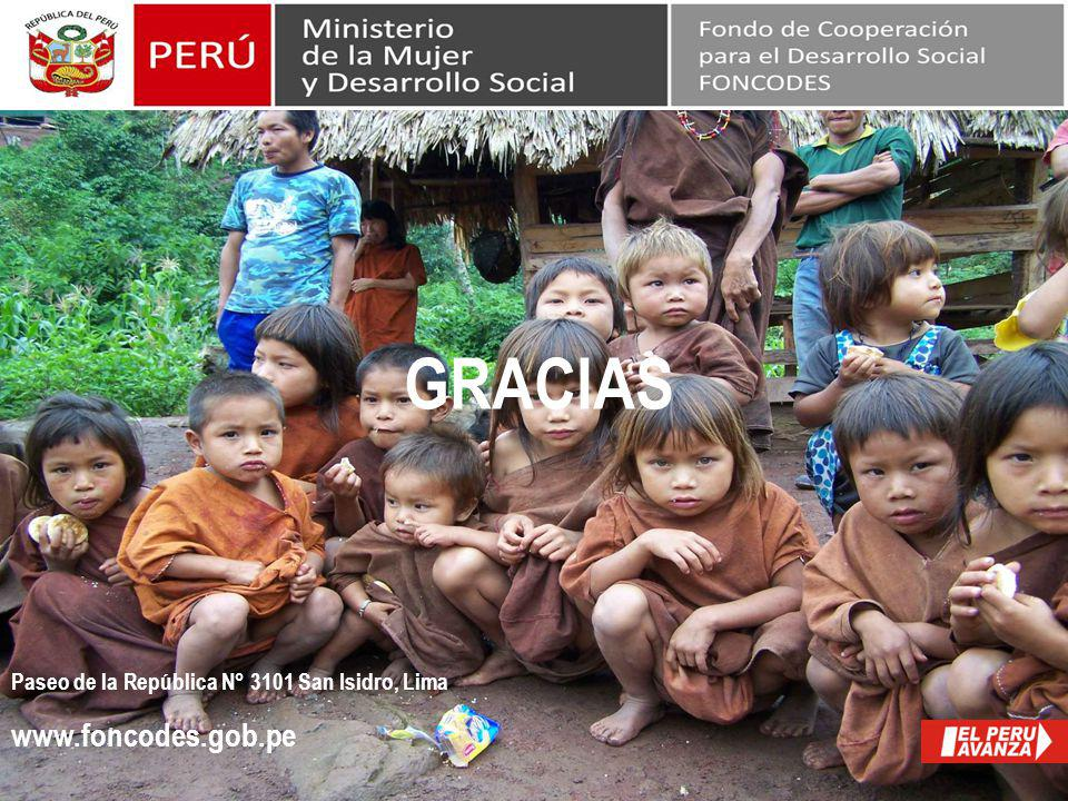 GRACIAS Fin www.foncodes.gob.pe