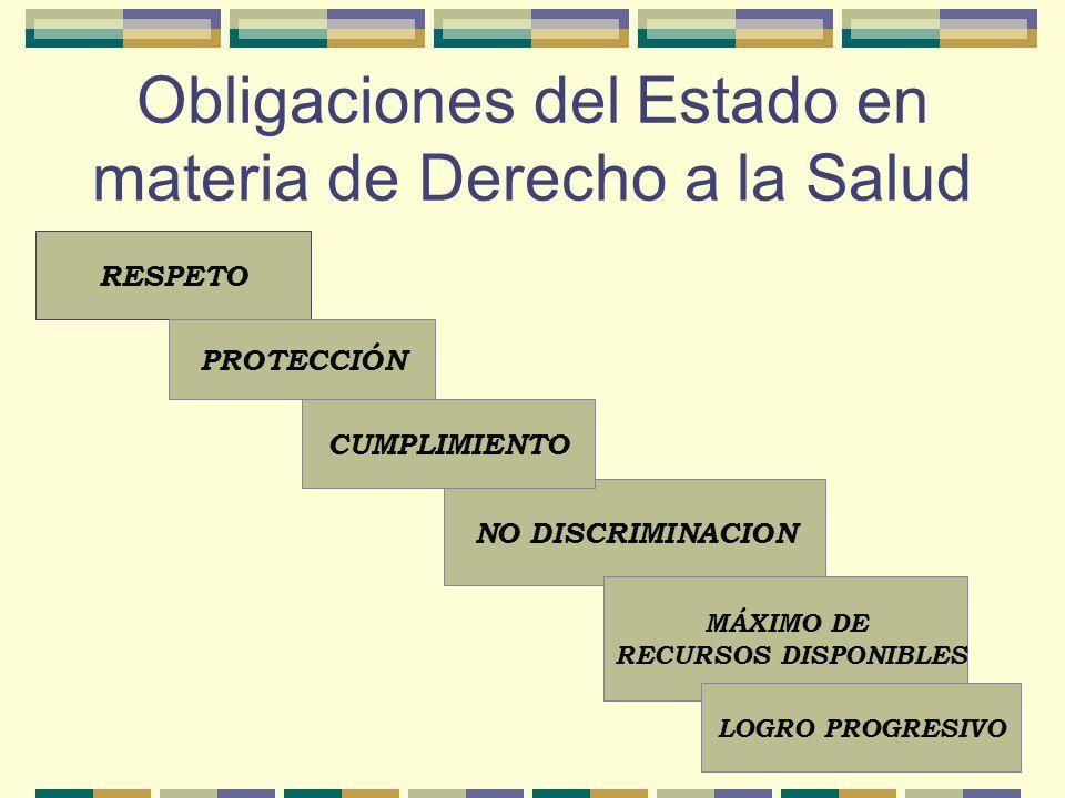Obligaciones del Estado en materia de Derecho a la Salud