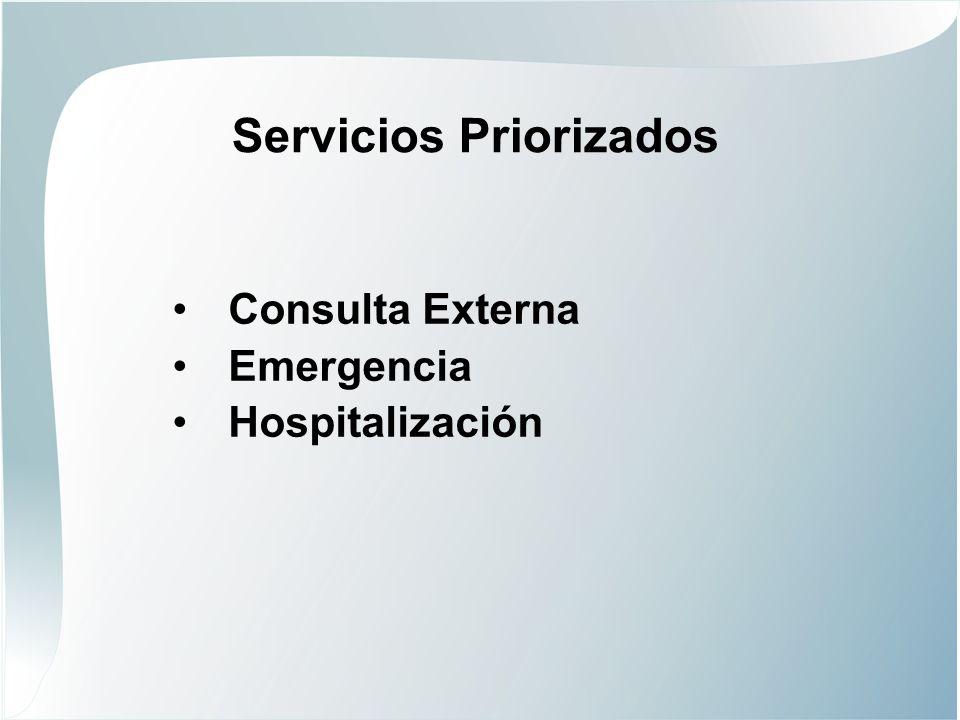 Servicios Priorizados