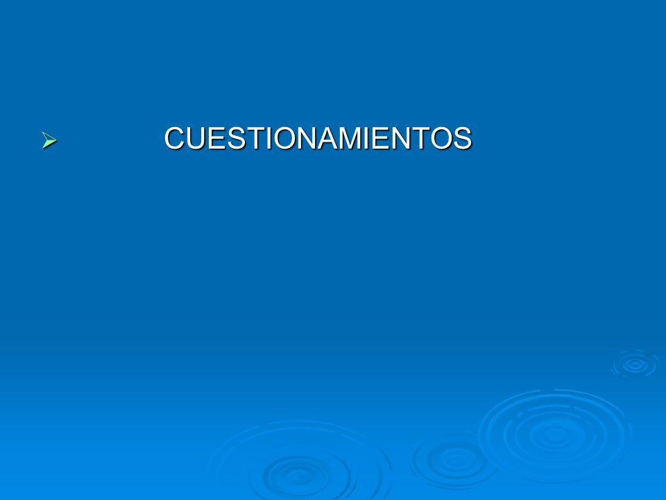 CUESTIONAMIENTOS